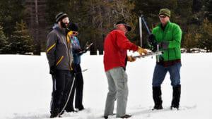 snow survey near Echo Summit