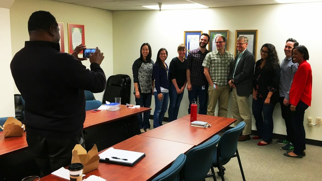 "California Department of Conservation Director David Bunn PhD visited the CCST office on April 15, 2016, as part of the ""Friday Seminar"" professional development series for CCST Science & Technology Policy Fellows."
