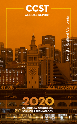 2020 Annual Report Cover, San Francisco orange from wildfire, Sept 2020