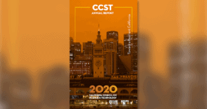 CCST Annual Report featured image, San Francisco orange from wildfire, Sept 2020