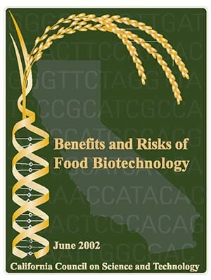 Benefits and Risks of Food Biotechnology Report Cover