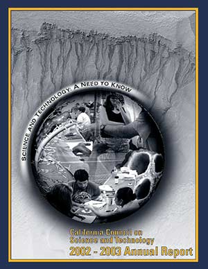 CCST Annual Report 2002-2003: Science & Technology: A Need to Know Cover