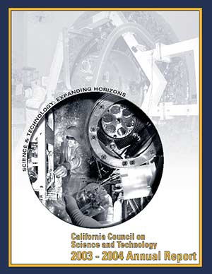 CCST Annual Report 2003-2004: Science & Technology: Expanding Horizons Cover