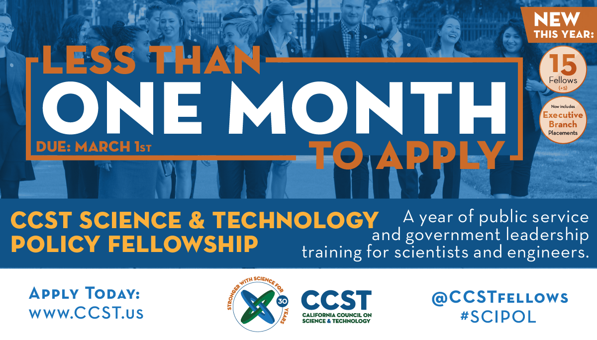 CCST Science Fellows Less than One Month