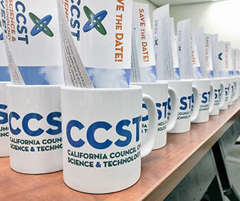 science and technology week mugs