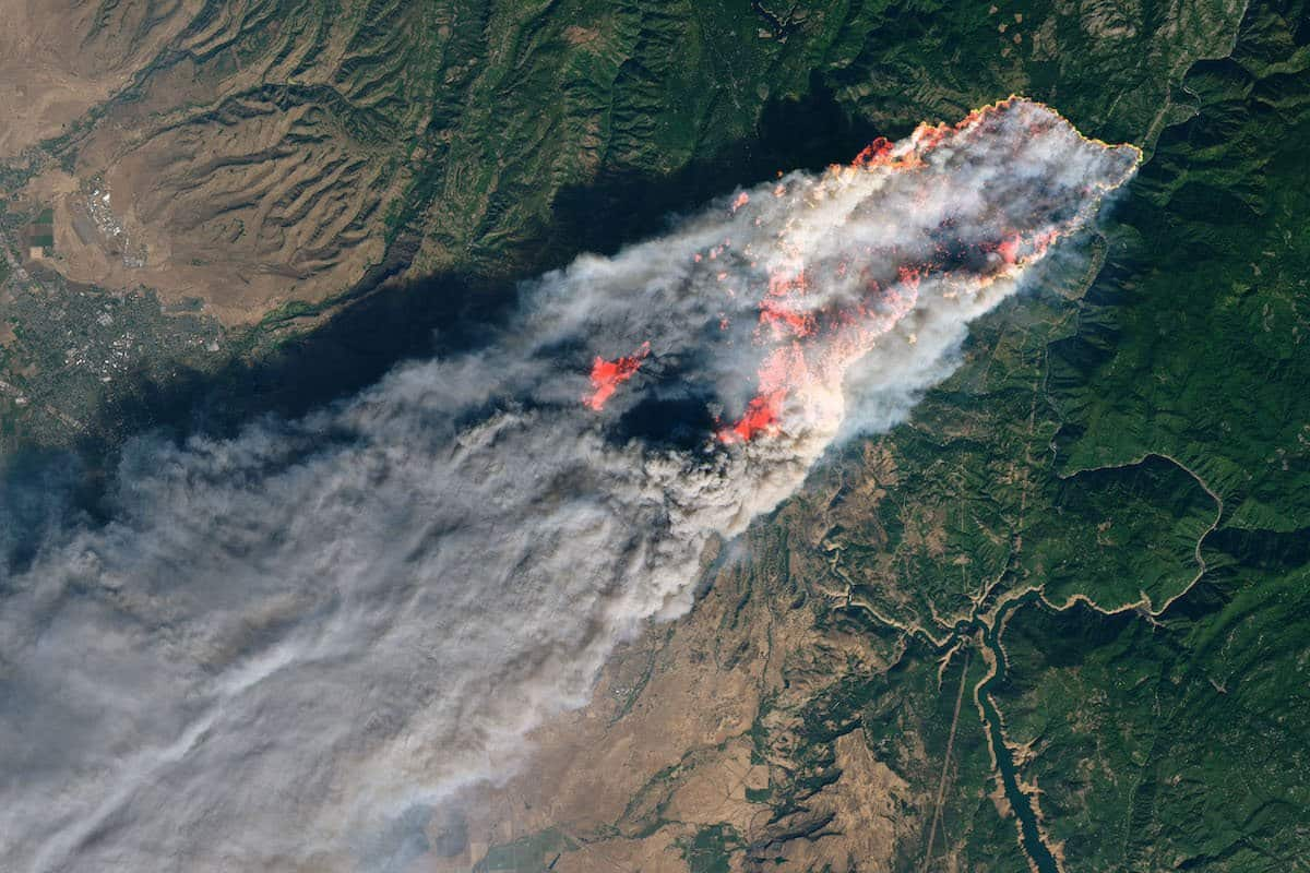 Photo of smoke from Camp Fire