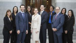 The 2016 Class of the CCST Science & Technology Policy Fellows. From left: Emily Berry, Diana Lin, John Thompson, Esha Mathew, Erin Arms, Matt Dumlao, Renita Polk, Dan Brumbaugh, Gabby Nepomuceno, Sarah Carvill.
