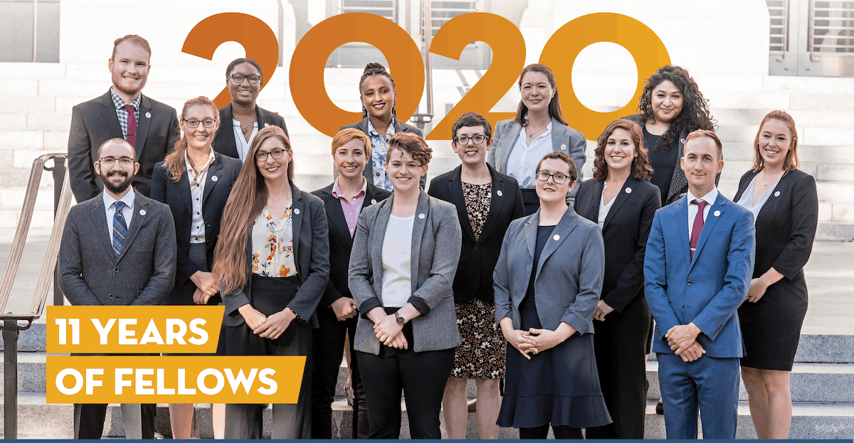 2020 Fellows with 11 years of fellows banner