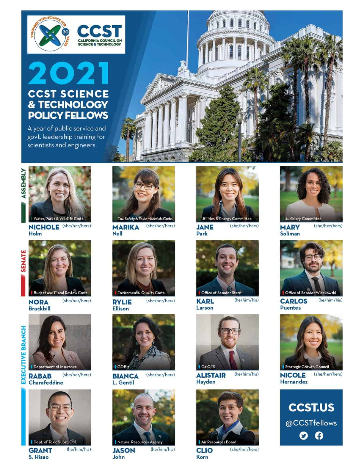 2021 Fellows Placements Grid