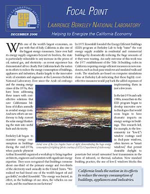 Focal Point: Lawrence Berkeley National Laboratory Cover