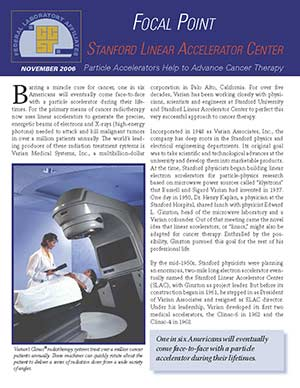 Focal Point: Stanford Linear Accelerator Center Cover