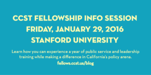CCST Fellowship info session 2016