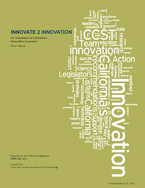 Innovate 2 Innovation - An Assessment of California's Innovation Ecosystem (Phase I) Cover