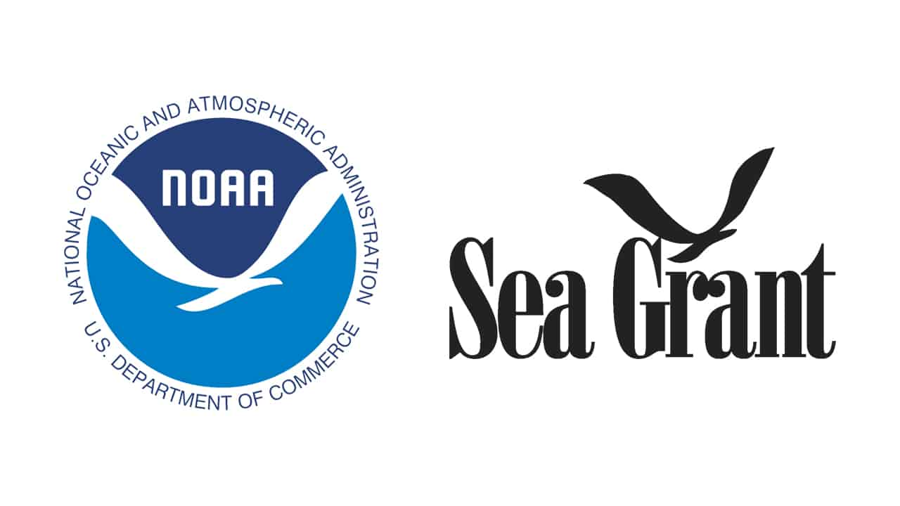 NOAA logo and Sea Grant logo side by side on white background