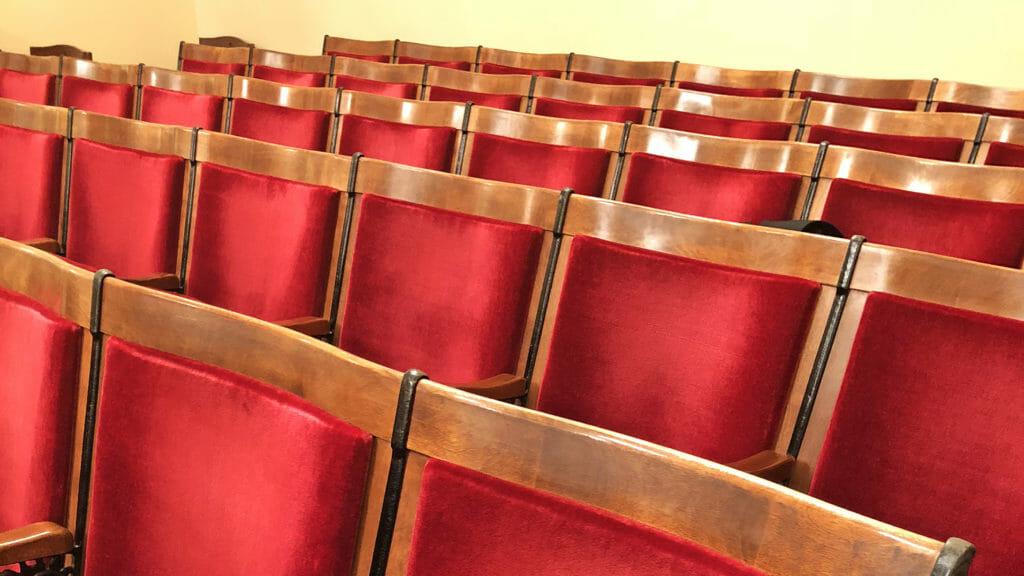 Empty seats in a Senate Hearing Room