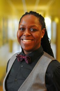 Jane Mantey is a 2015 CCST Science & Technology Policy Fellow. She is wearing a maroon bow tie and a grey vest.