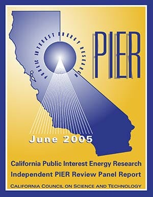 PIER 2005 Independent Review Panel Report Cover