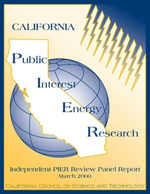 California Public Interest Energy Research (PIER) Independent Review Panel Interim Report