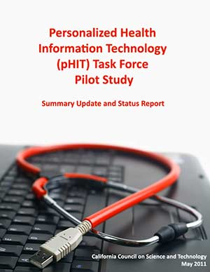 Personalized Health Information Technology (pHIT) Task Force Pilot Study Volume I Cover