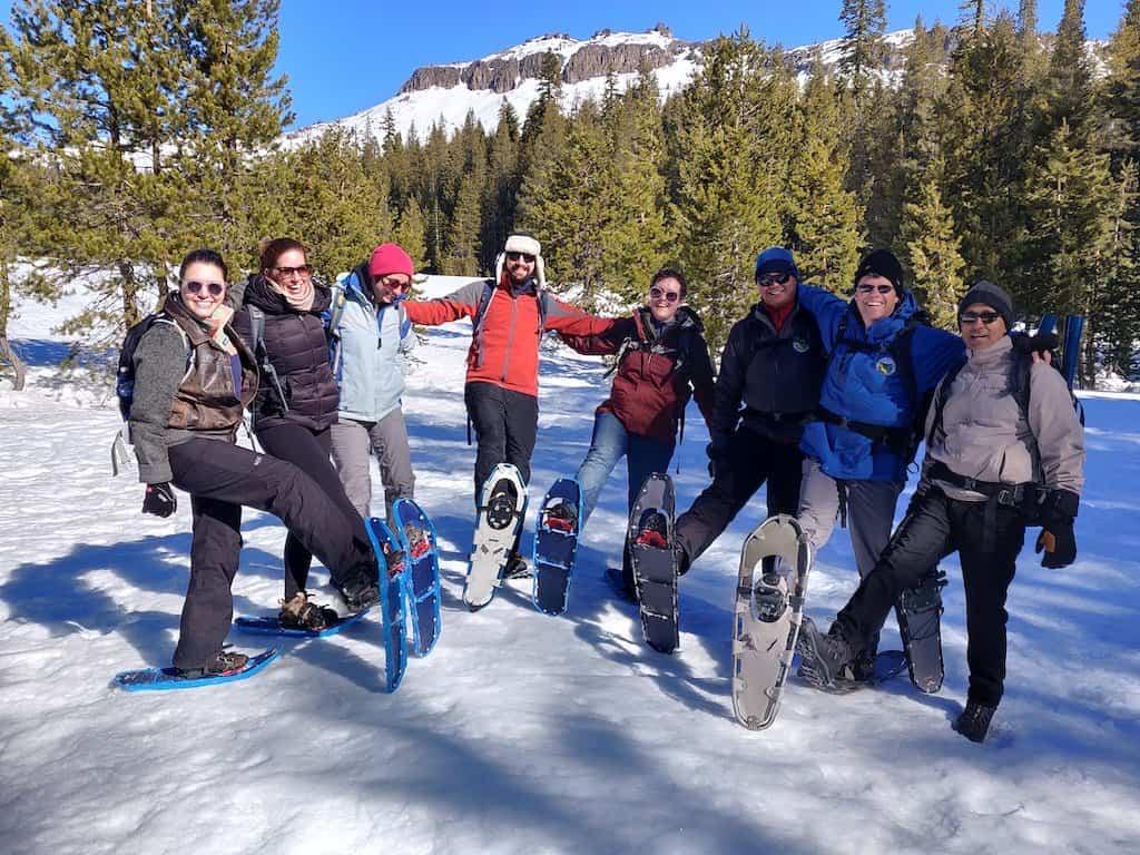 Group photo of the snow survey team