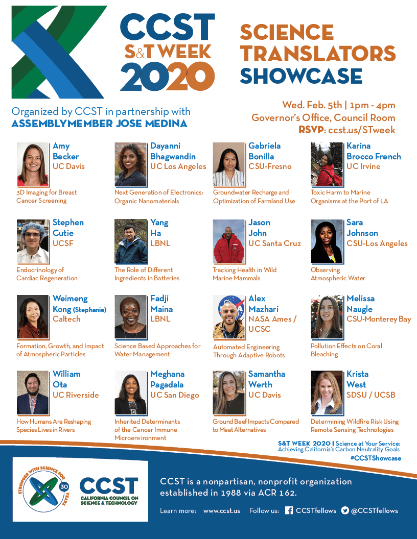 2020 CCST Science Translators Showcase