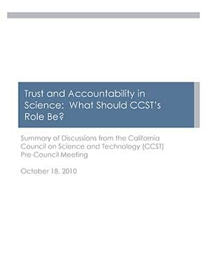 Summary of Meetings on Trust and Accountability Cover