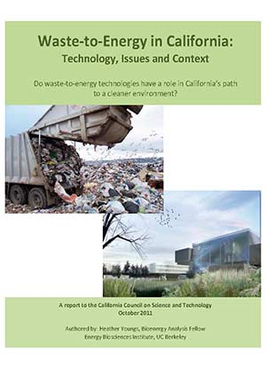 Waste-to-Energy in California Cover