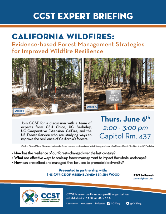 CCST Expert Briefing - Forest Management Strategies for Improved Wildfire Resilience