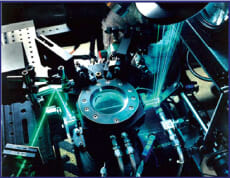 Laser used for combustion research